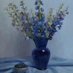 jenny-kelley_spectrum-series-delphinium-and-blueberries_20-x-16